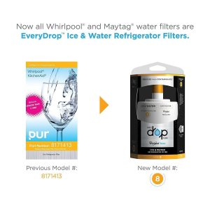 Whirlpool EveryDrop EDR8D1 water refrigerator filter 8, Replaces 8171413