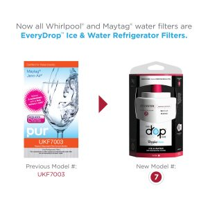 Whirlpool EDR7D1 Water Filter 7 FOR UKF 5,6, AND 7 MODELS.